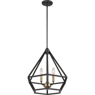 Basil 3-Light Geometric Chandelier by Brayden Studio