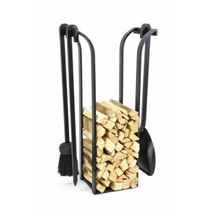 The Blacksmith 4 Piece Cast Iron Fireplace Tool Set By Symple Stuff