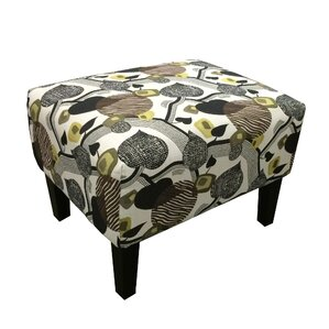 Sierra Blanca Leaf Print Ottoman by Red Barrel Studio