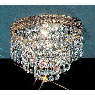 House of Hampton Genevieve Crystal Light Semi-Flush Mount