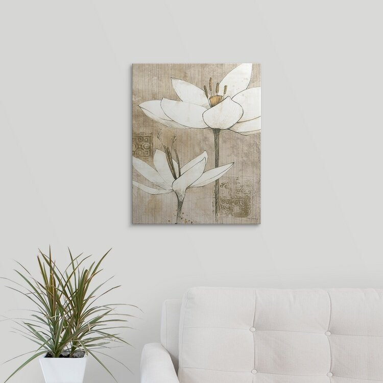 Winston Porter Pencil Floral I Avery Tillmon Painting Print Wayfair