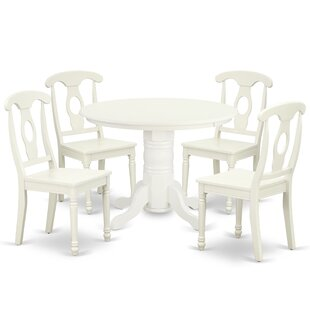 Lampert 5 Piece Solid Wood Dining Set