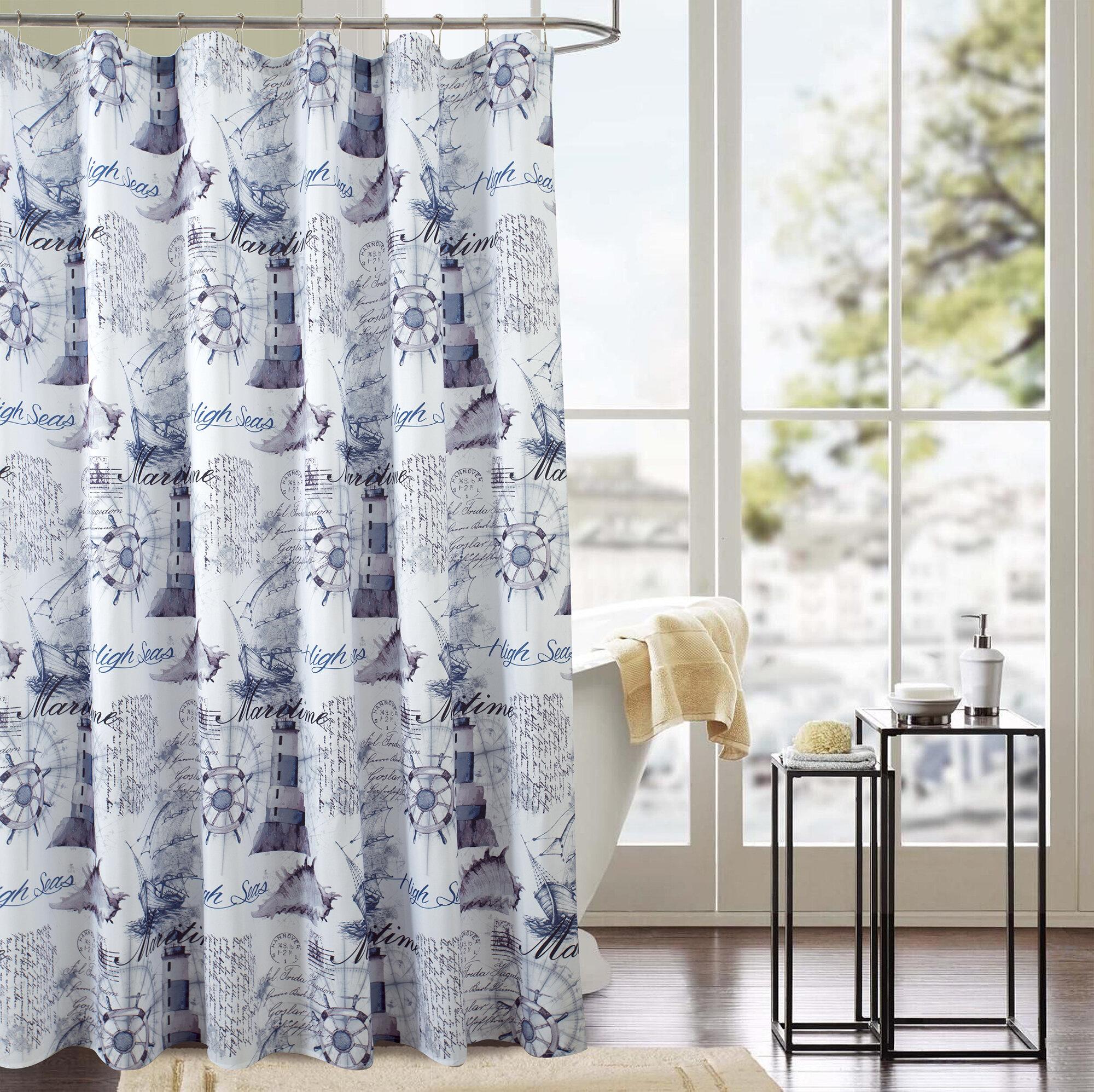 Longshore Tides Jed Nautical Odorless Single Shower Curtain Reviews Wayfair