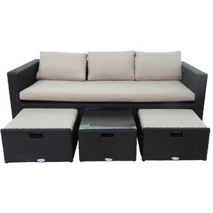 Batterton 4 Piece Sofa Set with Cushions