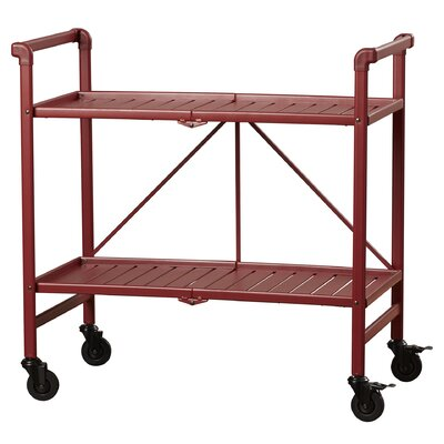 Greenbush Bar Cart Frame Color: Ruby Red by Beachcrest Home