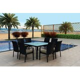 Azariah 9 Piece Sunbrella Dining Set with Cushions