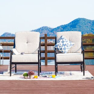Richards Outdoor Patio Chair with Cushions (Set of 2)