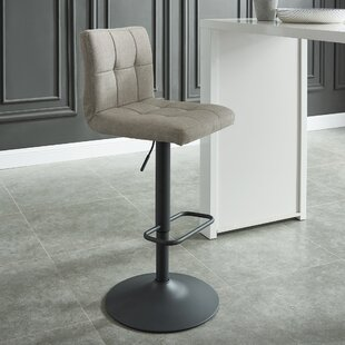Faustina Adjustable Height Swivel Bar Stool (Set of 2) by Ebern Designs
