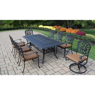 Darby Home Co Bosch Outdoor 9 Piece Dining Set with Cushions