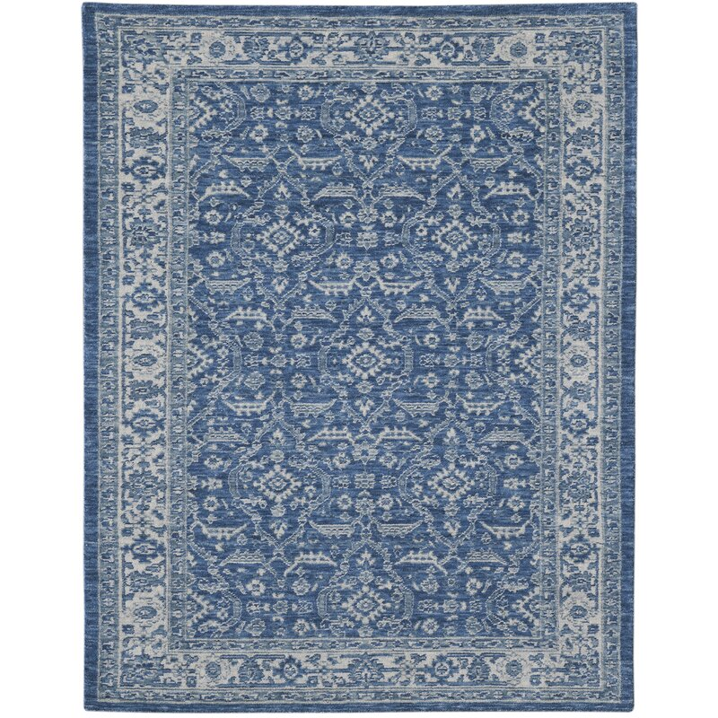 Amer Rugs Inara Oriental Handwoven Wool Blue Area Rug Perigold