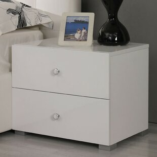 Febus 2 Drawer Block Feet Nightstand by Orren Ellis