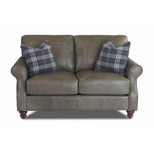 Canora Grey Belloreid Leather Loveseat