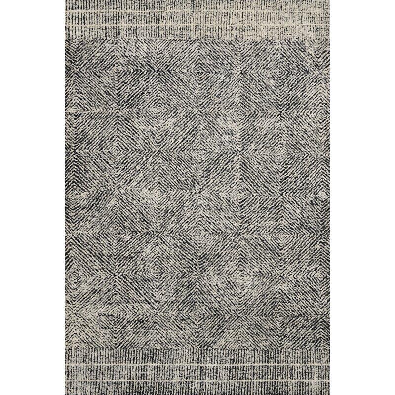 Ed Ellen Degeneres Crafted By Loloi Kopa Geometric Handmade Tufted Wool Black Ivory Area Rug Wayfair