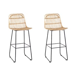 Nadell 74cm Bar Stool (Set Of 2) By Bay Isle Home