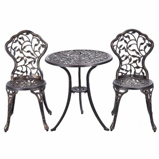 Astoria Grand Riemer 3 Piece Bistro Set