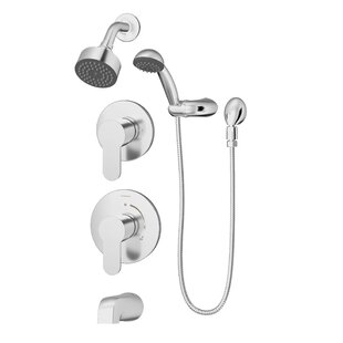 Symmons Identity Pressure Balance Spray Tub and Shower Faucet with Metal Lever Handles
