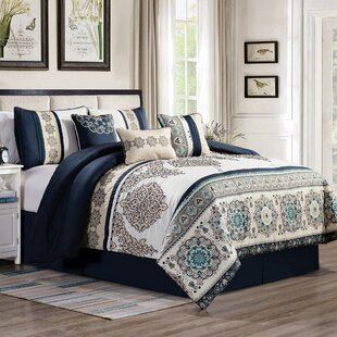 Tucker Embroidered 7 Piece Comforter Set
