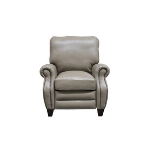 McMullen Leather Manual Recliner by Darby Home Co