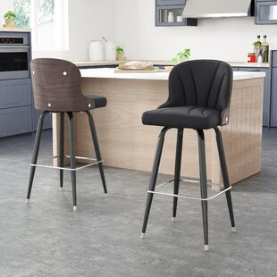 Skegness 30 Swivel Bar Stool (Set of 2) by Orren Ellis