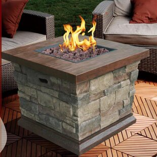 Clitheroe Faux Stone Propane Fire Pit Table