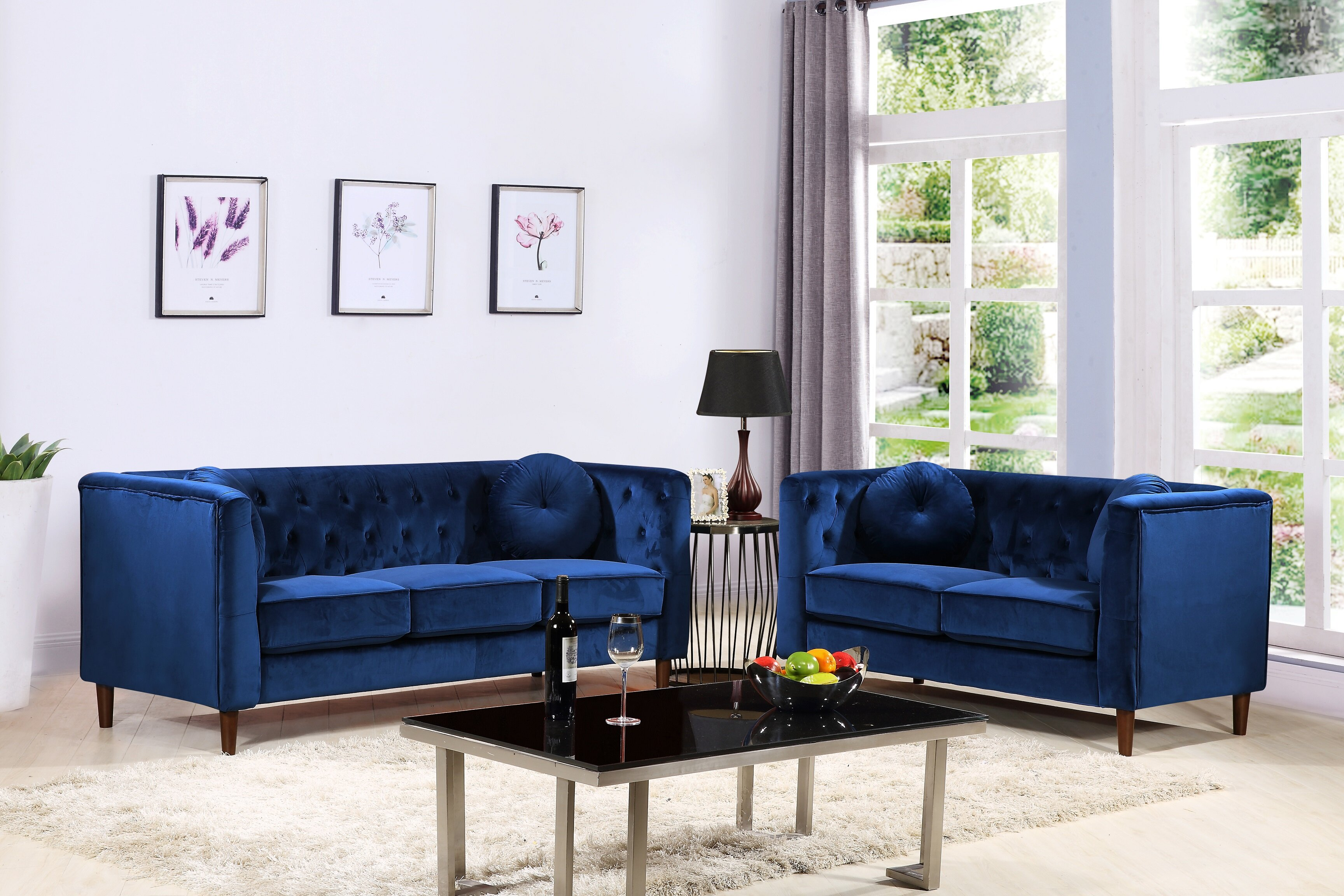 Kitts Classic Chesterfield 2 Piece Living Room Set