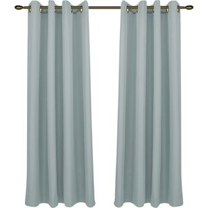 Clarksburg Solid Blackout Thermal Grommet Single Panel Curtain Panel