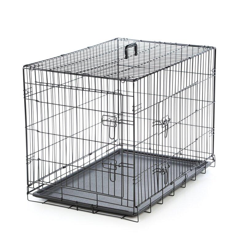Foldable 2 Door Pet Crate