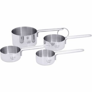 4-Piece Stainless Steel Measuring Cup Set (Set of 4)