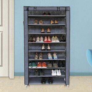 10 tiers 45 pair shoe rack