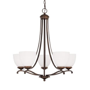 Alcott Hill Farrell 5-Light Shaded Chandelier