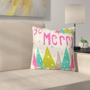 Henninger Be Merry Throw Pillow