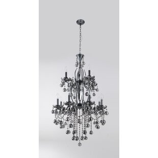 Karine 12-Light Candle Style Chandelier b..