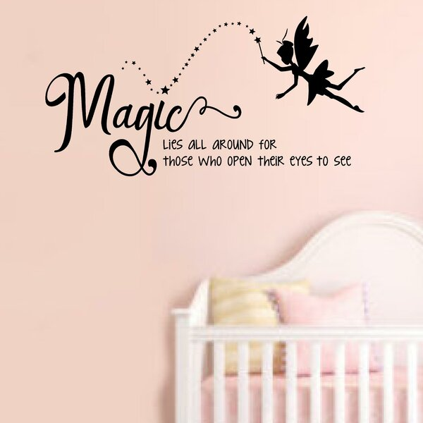 Enchantingly Elegant Magic Lies All Around Tinkerbell Wall Decal | Wayfair
