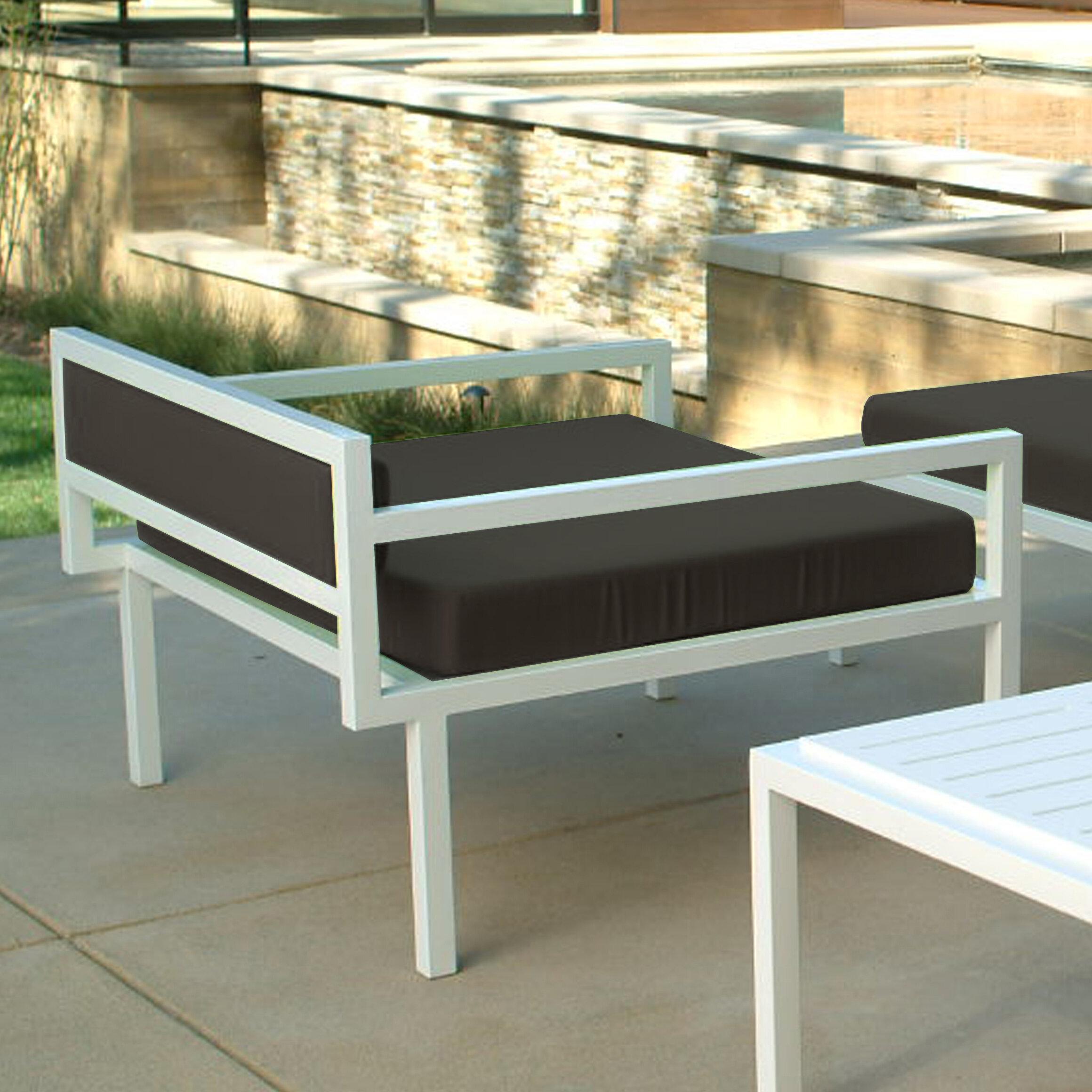 Modern Outdoor Talt Low Deep Seating Patio Lounge Chair With Cushions Wayfair