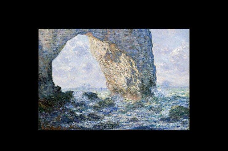 Vault W Artwork The Manneporte Etretat 1883 Claude Monet Print On Wrapped Canvas Wayfair Ca