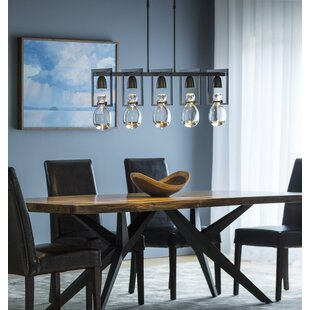 Hubbardton Forge New Traditional Apothecary 5-Light Kitchen Island Pendant