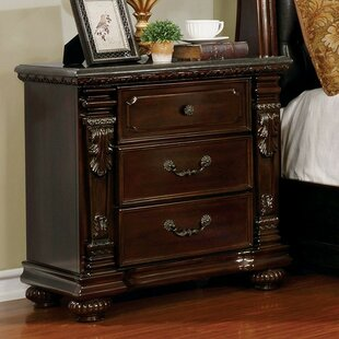 Gass 3 Drawer Nightstand by Astoria Grand