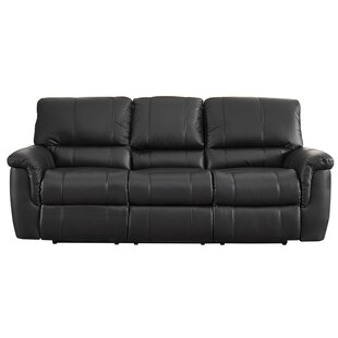 Darby Home Co Averill Leather Reclining S..