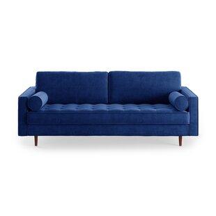 Delightful Modern Sofa Blue Sectionals Sleeper Spaces Wayfair Room ...