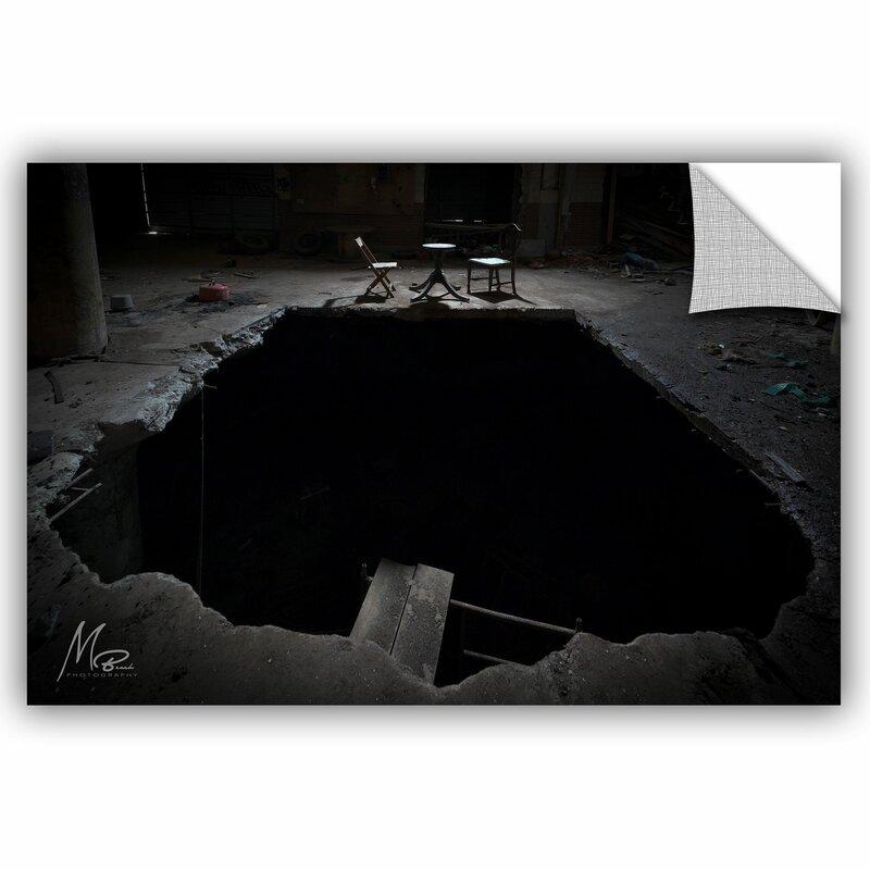artwall michael beach black hole wall decal | wayfair