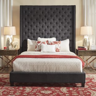 Borchers Upholstered Panel Bed by Three Posts