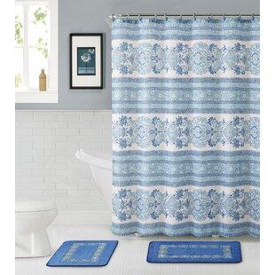 Reviews Bossier City 15 Piece Shower Curtain Set ByAlcott Hill