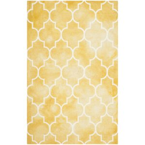Hand Tufted Gold/Ivory Area Rug