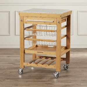 Barhill Kitchen Cart with Granite Top by Alcott Hill Compare Price