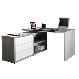 Pratico L-Shape Executive Desk By Ebern Designs