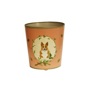 Worlds Away Corgi Wastebasket