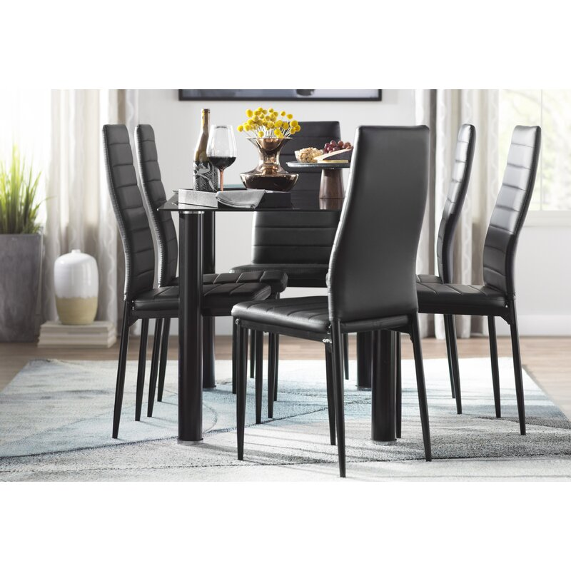Wade Logan® Aubree 7 Piece Dining Set & Reviews | Wayfair