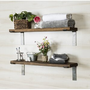 2 Piece Industrial Accent Shelves (Set Of 2)