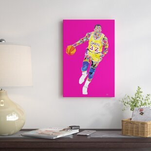 'Magic Johnson' Graphic Art Print on Wrapped Canvas by East Urban Home