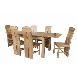 Loon Peak Pecor 7 Piece Extendable Dining Set